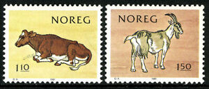 Norway 779-780, MNH. National Milk Producers Association, cent. Cow, Goat, 1981