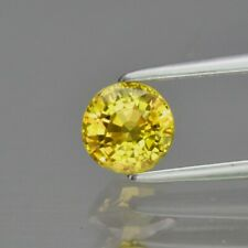 CERTIFICATE Incl.*0.82ct VVS Round Natural Unheated Greenish Yellow Sapphire
