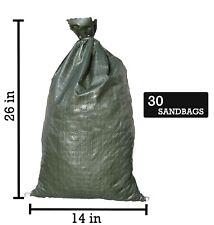 Sandbaggy 30 Green Empty Sandbags For Flooding -14x26 Sandbag Sand Bags Bag Poly