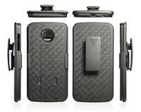 Moto Z2 Play Case, Z2 Play, Slim Rugged Holster Combo Clip Cover w/ Kickstand
