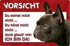 Französische BULLDOGGE - A4 Metall Warnschild Alu Hundeschild SCHILD - FBD 12 T2