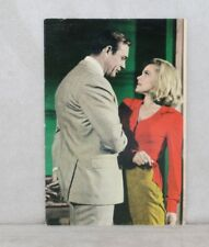 James BOND Postcard Sean Connery Honor Blackman Goldfinger Vintage 1960's Spain