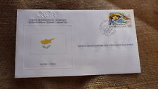 1980 IOC OLYMPIC GAMES STAMP ISSUE FDC, CYPRUS IOC ISSUE SWIMMING