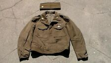 "WW2 to Korean War era Dress Uniform ""IKE"" Jacket & Overseas Garrison Flat Cap"