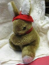 Vintage Artist Dormouse Designs Stuffed Easter Bunny Rabbit Animal Sue Quinn