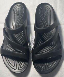 New Women's CROCS Kadee II Black Sandals Shoes Size 7 FREE SHIPPING