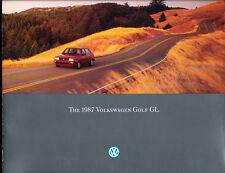 1987 VW Volkswagen Golf GL Original Car Sales Brochure Catalog - Diesel