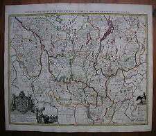 BRANDENBURG, 1. ZUSTAND !!, GUNDLING/ BUSCH BEI COVENS/MORTIER, KST.-KARTE ~1725