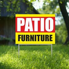 Patio Furniture Yard Sign Corrugate Plastic With H Stakes Lown Sign Store Shop