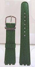 Bracelet Montre Vachette Grain Requin 20 mm Vert Boucle 2 Acier (Swatch)