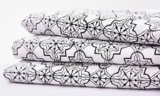 5 Yards Cotton Hand Block Print Fabric Natural Dyes Sewing Dressing Craft Indian