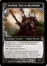 KORLASH, HEIR TO BLACKBLADE Future Sight MTG Black  Creature—Zombie Warrior RARE