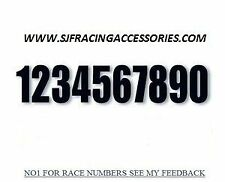 motocross race numbers  ,race numbers Decals Stickers