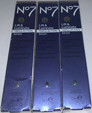 No7 Lift & Luminate Triple Action Serum 15ml/0.5fl.oz. New (lot Of3)
