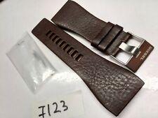 DIESEL Watch Strap DZ7123 OEM genuine brown leather band 32mm DZ7122 DZ7124 NOS