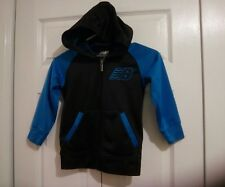 New Balance Boys  Sz 4 Black And Turquiose Zip Front Hoodie~Great Condition