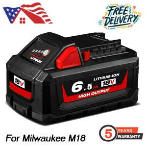 For 18V Milwaukee 48-11-1852 6.5 AH Battery M18 XC Lithium 48-11-1830 48-11-1860