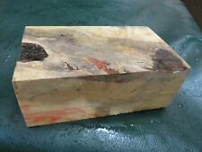 FF- FLAME BOX ELDER BURL  DELUXE KNIFE BLOCK/SCALES/ CALLS/ PEN BLANKS--F--44