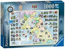 Ravensburger The North and Southern Scotland Jigsaw Puzzle - Map- 1000 Pieces