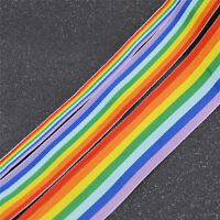3M Rainbow Stripe Ribbon Woven Trim Sided for DIY Sewing Hand Craft Decoration