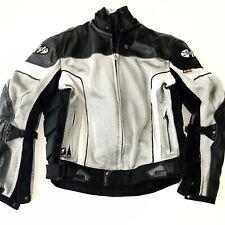 JOE ROCKET Sure Fit Mens Size Medium Black Gray Silver Lined Motorcycle Jacket