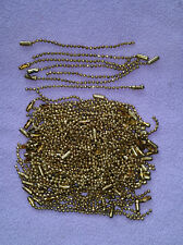 100 Count - Vintage Pull Chain Extension 2mm Gold color only - 3.5 inches