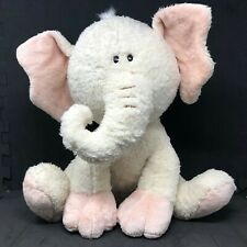 Fao Schwarz Cream Peach Pink Melvin Elephant Plush Stuffed Animal 16""