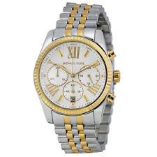 Michael Kors MK5955 Lexington Silver Chronograph Two Tone Women's 38mm Watch