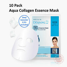 10x DERMAL Aqua Collagen Essence Facial Face Mask Sheet Skin Pack Korea