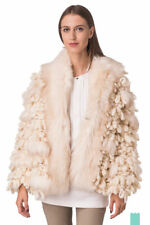 $998 New Diesel Aspic Giacca Oversized Loop Stitched Faux Fur Heavy Coat RARE S