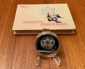 2016 Disney Mickey Mouse Season's Greetings Silver Proof 1 oz Silver coin