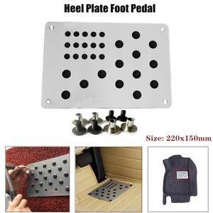 1×Universal Aluminum Truck Car Floor Mat Carpet Heel Scuff Plate Foot Pedal Rest