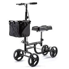 Equipmed Knee Walker Foldable Mobility Scooter -Adjustable Height Storage Basket