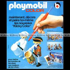 PLAYMOBIL COLOR 'Clicky Color' 1978 - Pub / Publicité / Advert Ad #A1128