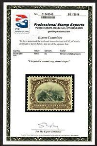 JL SCOTT# 298 UNUSED OG NH 8c CANAL LOCKS, 1901, CLEAN PSE CERT!!!