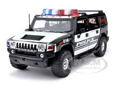 HUMMER H2 POLICE K9 UNIT HIGH PROFILE 1/24 DIECAST MODEL CAR BY JADA 53549-K9