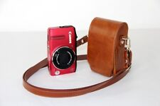 Brown leather case bag pouch to Fujifilm Finepix AX660 AX650 T550 T500 camera T