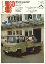 MERCEDES BENZ LP  406D & L 408 TRUCK LORRY SALES BROCHURE 1972 1973