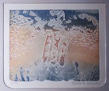 BRUCE R. BLEACH, ABSTRACT Mixed Media Aquatint, Ltd Ed, LISTED Fine Artist S/N