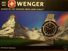 WENGER WATCH CATALOG! MILITARY RACE CAR NAVY SEAL DIVER TIMEPIECE INFO