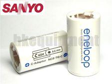 Sanyo Eneloop Battery Adaptor Converter AA to C R14 x4