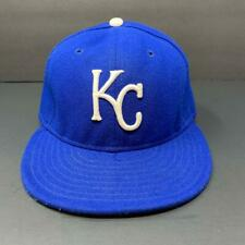 Kansas City Royals MLB New Era 59Fifty Fitted Hat Blue Cap Size 7