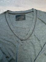 DIESEL BLACK GOLD PLAIN LUXURY LANA WOOL SHIRT TSHIRT TOP V-Ausschnitt V-NECK M