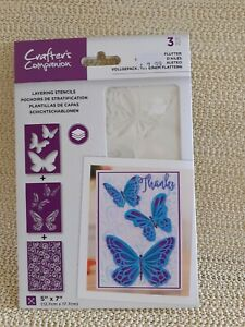 "Crafter's Companion Butterfly Layering Stencils 5 x 7"" CC-STEN-FOAF"