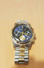 Michael Kors Chronograph Uhr DAMEN MK6165 bicolor silber gold blaues Zifferblatt