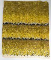 Amazing 1940s-50s Hawaiian Border Print Cotton Tiki Vintage Sewing 3+ yds