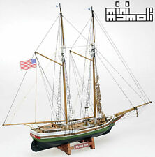 """Detailed, Unique Wooden Model Ship Kit by Mamoli: the """"Flying Fish"""""""