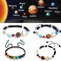 bracelet bangle la pierre naturelle des perles galaxie planètes système solaire