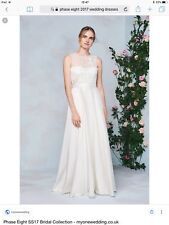 PHASE EIGHT clarabella - IVORY WEDDING DRESS bridal gown 14 16 lace draped train