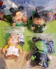 "Disney Vinylmation 3"" Park Set 1 Wizard of Oz Lot Witch Glinda Oscar and 4 Jrs"